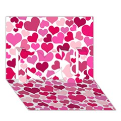 Heart 2014 0933 I Love You 3D Greeting Card (7x5)
