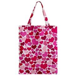 Heart 2014 0933 Zipper Classic Tote Bags