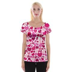 Heart 2014 0933 Women s Cap Sleeve Top