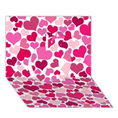 Heart 2014 0933 Apple 3d Greeting Card (7x5)