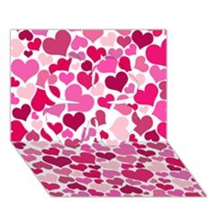 Heart 2014 0933 Clover 3d Greeting Card (7x5)