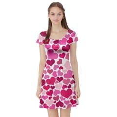 Heart 2014 0933 Short Sleeve Skater Dresses