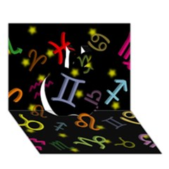 All Floating Zodiac Signs Apple 3d Greeting Card (7x5)