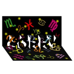 All Floating Zodiac Signs SORRY 3D Greeting Card (8x4)