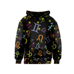 All Floating Zodiac Signs Kid s Pullover Hoodies