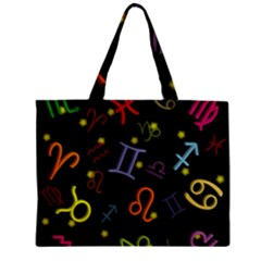 All Floating Zodiac Signs Zipper Tiny Tote Bags