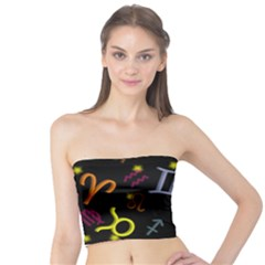 All Floating Zodiac Signs Women s Tube Tops