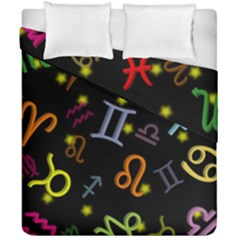 All Floating Zodiac Signs Duvet Cover (double Size)