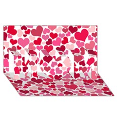 Heart 2014 0934 Mom 3d Greeting Card (8x4)