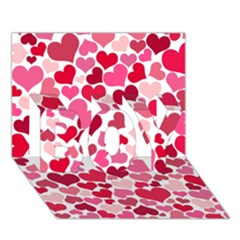 Heart 2014 0934 Boy 3d Greeting Card (7x5)