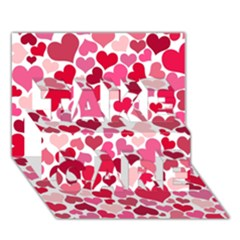 Heart 2014 0934 Take Care 3d Greeting Card (7x5)