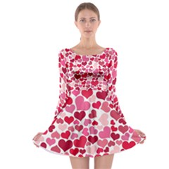 Heart 2014 0934 Long Sleeve Skater Dress