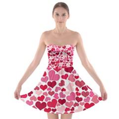 Heart 2014 0934 Strapless Bra Top Dress