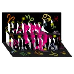 Virgo Floating Zodiac Sign Happy Birthday 3d Greeting Card (8x4)