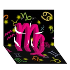 Virgo Floating Zodiac Sign Clover 3d Greeting Card (7x5)