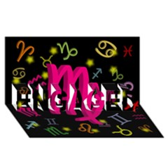 Virgo Floating Zodiac Sign ENGAGED 3D Greeting Card (8x4)