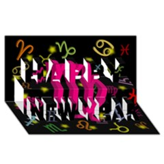 Virgo Floating Zodiac Sign Happy New Year 3d Greeting Card (8x4)