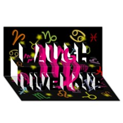 Virgo Floating Zodiac Sign Laugh Live Love 3d Greeting Card (8x4)