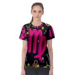 Virgo Floating Zodiac Sign Women s Sport Mesh Tees