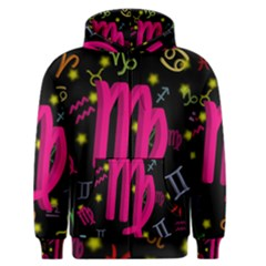 Virgo Floating Zodiac Sign Men s Zipper Hoodies