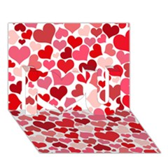 Heart 2014 0935 I Love You 3D Greeting Card (7x5)