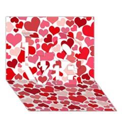 Heart 2014 0935 LOVE 3D Greeting Card (7x5)