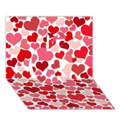 Heart 2014 0935 Apple 3D Greeting Card (7x5)
