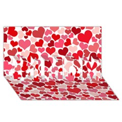 Heart 2014 0935 #1 MOM 3D Greeting Cards (8x4)