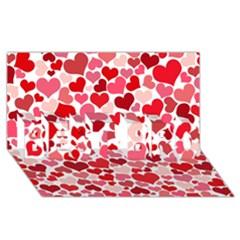 Heart 2014 0935 BEST BRO 3D Greeting Card (8x4)