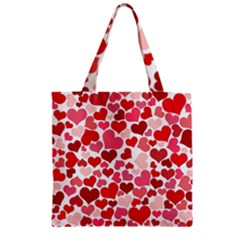 Heart 2014 0935 Zipper Grocery Tote Bags