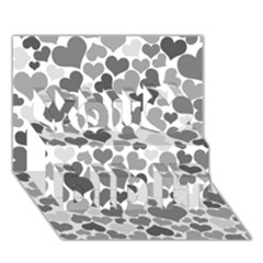 Heart 2014 0936 You Did It 3d Greeting Card (7x5)
