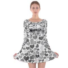 Heart 2014 0936 Long Sleeve Skater Dress