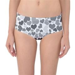 Heart 2014 0936 Mid-Waist Bikini Bottoms