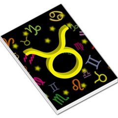 Taurus Floating Zodiac Sign Large Memo Pads