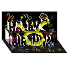 Taurus Floating Zodiac Sign Happy Birthday 3D Greeting Card (8x4)