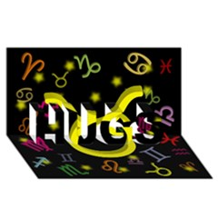 Taurus Floating Zodiac Sign Hugs 3d Greeting Card (8x4)