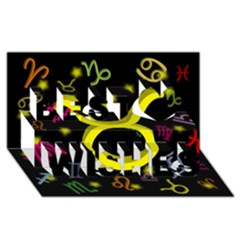 Taurus Floating Zodiac Sign Best Wish 3D Greeting Card (8x4)