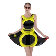 Taurus Floating Zodiac Sign Skater Dresses