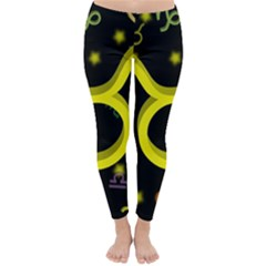 Taurus Floating Zodiac Sign Winter Leggings