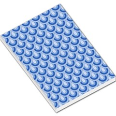Awesome Retro Pattern Blue Large Memo Pads