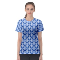 Awesome Retro Pattern Blue Women s Sport Mesh Tees