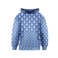 Awesome Retro Pattern Blue Kid s Pullover Hoodies