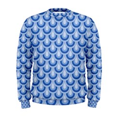 Awesome Retro Pattern Blue Men s Sweatshirts