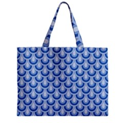Awesome Retro Pattern Blue Zipper Tiny Tote Bags
