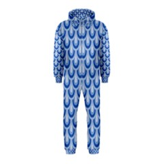 Awesome Retro Pattern Blue Hooded Jumpsuit (kids)