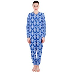 Awesome Retro Pattern Blue OnePiece Jumpsuit (Ladies)
