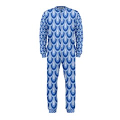 Awesome Retro Pattern Blue OnePiece Jumpsuit (Kids)
