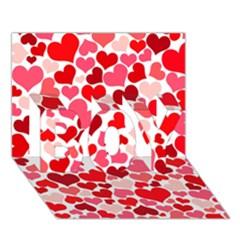 Heart 2014 0937 BOY 3D Greeting Card (7x5)