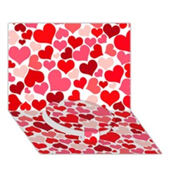Heart 2014 0937 Circle Bottom 3D Greeting Card (7x5)