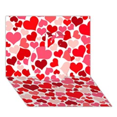 Heart 2014 0937 Apple 3d Greeting Card (7x5)
